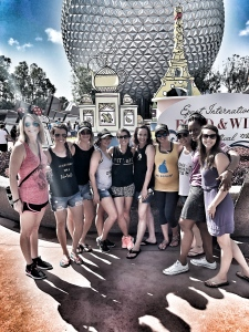 Maegan Blinka, Megan Blinka, What is Team beachbody Coaching, 2017 team retreat, what to do in Orlando, Favorite things of Disney's Epcot park, Where to find the frozen Dole Whip, Empowering women, Work from home job opportunity, Stay at home mom job opportunity, how to build an empire, girlbosses welcome, blue champagne, Epcot Food and Wine festival