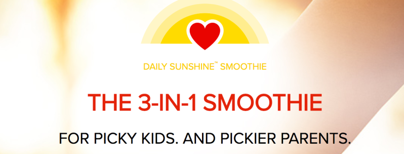 Maegan Blinka, Megan Blinka, Daily Sunshine, What is daily sunshine, gluten free smoothie, Dairy free smoothie, Dairy free and gluten free smoothie for kids, NONGMO smoothie for kids, NONGMO smoothie pediatrician approved, 3 in 1 smoothie, where can you buy daily sunshine