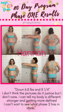 80 day obsession phase 1 results hannah