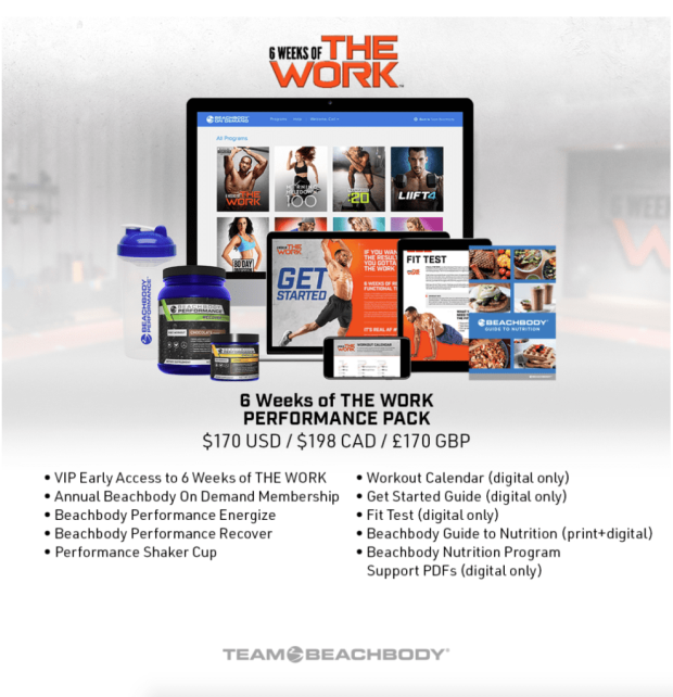 The work, how to get started with the work, Amoila Cesar, How to get your hands on Amoila Cesar's new workout program, elite athlete training, Maegan Blinka, Megan Blinka, Amoila Cesar and Beachbody, New home workout program, how much does THE WORK cost, Do you need Beachbody On Demand for the WORK, Home fitness success